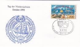 Germany Cover Emden 1993 Tag Der Niedersachsen  (T2-12) - Cartas