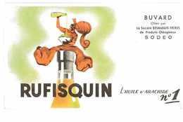 BUVARD RUFISQUIN L'HUILE D'ARACHIDE N°1 SOCIETE DESMARAIS FRERES SODEO - Buvards, Protège-cahiers Illustrés