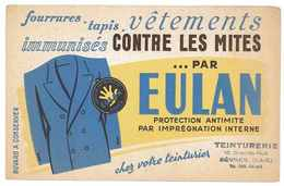 BUVARD PUB EULAN CONTRE LES MITES - Buvards, Protège-cahiers Illustrés