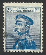 Serbia, 25 P. 1911, Sc # 118, Mi # 101, Used - Serbien