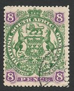 Rhodesia, British South Africa Company, 8 P, 1897, Sc # 56, Mi # 55, Used. - Grande-Bretagne (ex-colonies & Protectorats)