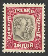 Iceland, 16 A. 1907, Sc # O36, Mi # 29, MH. - Dienstzegels