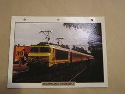 DE CASABLANCA à MARRAKECH Maroc  Locomotive Fiche Descriptive Ferroviaire Chemin De Fer Train - Fiches Illustrées
