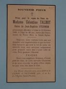 DP Célestine TALBOT ( Steinweg ) Décédée Liège 13 Oct 1949 à L'age De 69 Ans ( Zie Foto´s ) !