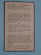 DP Hendrik-Lodewijk MATHYS () Steenokkerzeel 30 Aug 1925 - 9 Nov 1941 ( Zie Foto´s ) !