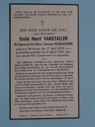 DP Emile VANSTALLEN ( Olislaeger ) Hoeilaart 17 April 1889 - 8 April 1943 ( Zie Foto´s ) !