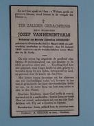 DP Jozef Van HERENTHALS ( Vandervoort ) Overyssche 31 Maart 1866 - Hoeilaart 14 Jan 1940 ( Zie Foto´s ) !