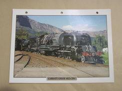 GARRATT GNAM 482 + 284 Afrique Du Sud Africa     Locomotive Fiche Descriptive Ferroviaire Chemin De Fer Train - Fiches Illustrées