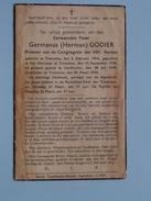DP Eerwaarden Pater Germanus (Herman) GODIER ( PRIESTER ) Tremeloo 5 Feb 1914 - 20 Maart 1943 ( Vuil / Zie Foto´s ) !