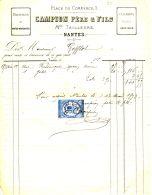 N°34 M -facture Draperie Campion Père Et Fils à Nantes - Frankreich