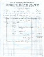 N°36 M -facture Distillerie Bugno Colladon à Besançon - France