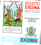 B Exo/Buvard Biscottes Exona Devinette - Zwieback