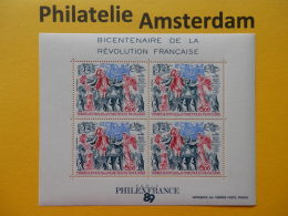 French Antarctic Terr. (TAAF) 1989, FRENCH REVOLUTION PHILEXFRANCE 89: Mi 257, Bl. 1, ** - Franz. Revolution