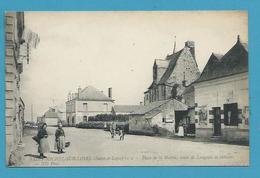 CPA 1 - Place De La Mairie Route De Langeais Et Château SAINT-MICHEL-SUR-LOIRE 37 - Andere Gemeenten