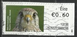 Irlanda 2012 - Kestrel (Falco Tinnunculus) Animali (Fauna)   Falchi   Uccelli   Uccelli Rapaci (su Frammento) - Affrancature Meccaniche/Frama