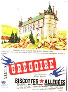 B Gré/Buvard  Biscottes Grégoire Chateau De La Voulte Polignac 43 - Biscottes