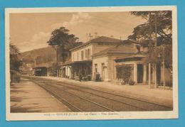 CPSM 0175 - Chemin De Fer La Gare GOLFE-JUAN 06 - Francia