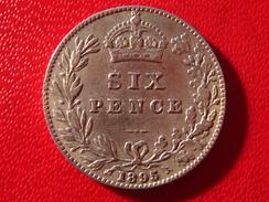 Royaume-Uni - UK - Six Pence 1895 3733 - 1816-1901: 19. Jh.