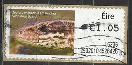 Irlanda 2014 - Viviparous Lizard (Zootoca Vivipara) Animali (Fauna)   Lucertole   Rettili (su Frammento) - Affrancature Meccaniche/Frama