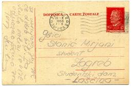 1956 JUGOSLAVIA DOPISNICA CARTE POSTALE VIAGGIATE - Interi Postali