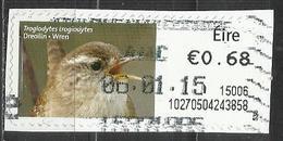 Irlanda 2014 - Wren (Troglodytes Troglodytes) Animali (Fauna) | Uccelli - (su Frammento) - Affrancature Meccaniche/Frama