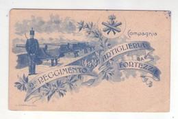 Cartolina 2° Reggimento Artiglieria Da Fortezza (Compagnia) - Reggimenti