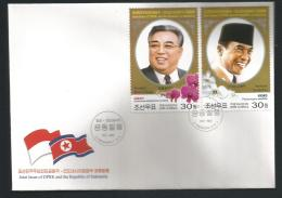 2015 Joint Issue With Indonesia FDC  NKO Y.T. 4136/4137   ** - Korea, North