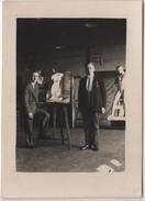 Photo Originale LIMOGES Juillet 1933 Peintre Sculpteur BOUTAUD Surveillant André BARRAL Peinture Sculpture Atelier - Photographs