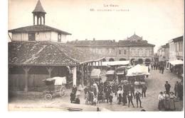 Cologne(Mauvezin-L'Isle-Jourdain-Gimont-Gers)-+/-1910-La Halle-Jour De Marché-attelages-animée - Auch