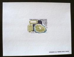 TAAF  Mineraux - (olivine ) Yvert N° 195 Epreuve De Luxe. Sheet Of Luxe. - Minéraux