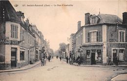 """¤¤  -  307   -  SAINT-AMAND-MONTROND   -  La Rue D'Austerlitz - Hôtel """" JACQUET """"   -  Tabac , Epicerie  -  ¤¤ - Saint-Amand-Montrond"""