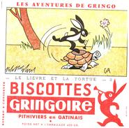 B G/ Buvard Biscottes Gringoire Le Lièvre Et La Tortue 2 - Biscottes