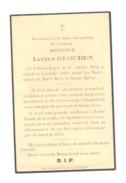 Faire-part De Décès De Mr.Lucien GLOUDEN - SAINT - LEGER 1903 (b198) - Obituary Notices