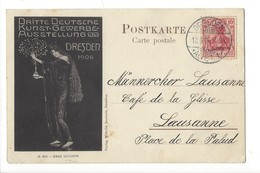 16000 -  Dresden 1906 Dritte Deutsche Kunst-Gewerbe-Ausstellung Pour Lausanne - Dresden