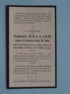 DP Sidonie ROLLIER ( Charles De Smet ) POLLAERE 14 Mai 1870 - ROUX 2 Mars 1933 ( Zie Foto´s ) !