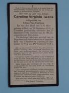 DP Carolina Virginia IWENS ( Van Casteren ) BAEL 28 Sept 1895 - Tremeloo 17 Sept 1936 ( Zie Foto´s ) !