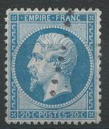 Lot N°33589   Variété/n°22, Oblit, Tache Blanche Face A L'oeil - 1862 Napoleon III