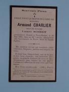 DP Armand CHARLIER ( Laure SOHET ) Décédé à VAUX-BORSET 26 Mai 1935 Dans Sa 64e Année ( Zie Foto´s ) !