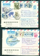 Russia. 6 Air Mail Letters To Denmark. - 1992-.... Fédération