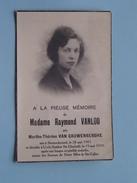 DP Mme Raymond VANLOO ( Van Cauwenberghe ) Steenockerzeel 28 Mai 1901 - Uccle 19 Mai 1935 ( Zie Foto´s ) !