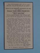 DP Désiré VAN DER POORTEN ( Marie ROLLIER ) Denderwindeke 2 Feb 1869 - Ninove 30 April 1939 ( Zie Foto´s ) !