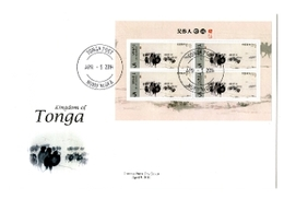 Tonga 2014, Camels In Painting, 4val In BF In FDC - Tonga (1970-...)