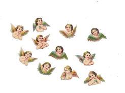 11 PETITS DECOUPIS  GAUFFRES ANGELOTS - Anges