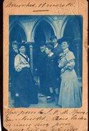 Photo Originale Famille - Groupe Familial à Avranches - 50300 - Le 11.03.1906 - Tirage Bleu & Correspondance - Personnes Anonymes