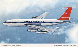 Nortwest Orient Airlines Boeing 720B Airline Issue Postcard - 1946-....: Modern Era