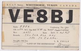 6AI4907 CARTE QSL Radio Amateur WHITEHORSE YUKON CANADA   1949  2 SCANS - Radio Amateur