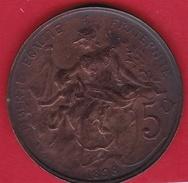 France 5 Centimes IIIe République - 1898 - Frankrijk