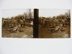 Pas De Calais Dept 62 Cimetiere De Villers Au Bois Arrivée Morts Photo Plaque De Verre Stéréo WW1 Guerre 14 18 1914 1918 - Stereoscopio