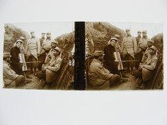 Pas De Calais Dept 62 Carency Concert Tranchée Landucci Photo Plaque De Verre Stéréo WW1 Guerre 14 18 1914 1918 - Stereoscopio