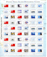 Tonga 2014, Small Island, Fishes, Boats, Hurrican, Map, Whales, 54val In Sheetlet - Boten